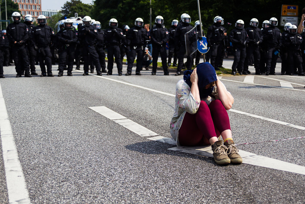 G20 Demonstration in hamburg